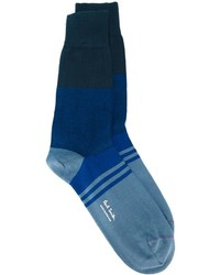 blaue horizontal gestreifte Socken von Paul Smith