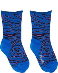 blaue horizontal gestreifte Socken von Kenzo