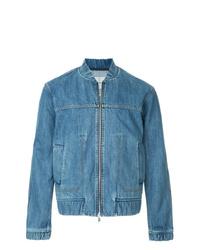 blaue Jeans Bomberjacke