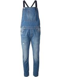 blaue Jeans Latzhose