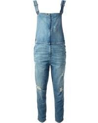 blaue Jeans Latzhose von Current/Elliott
