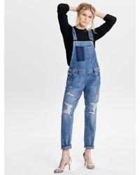 blaue Jeans Latzhose von Only
