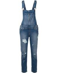 blaue Jeans Latzhose von Paige