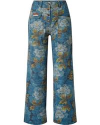 blaue Jeans mit Blumenmuster von Kenzo