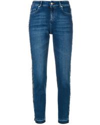 blaue Jeans mit Destroyed-Effekten von Alexander McQueen