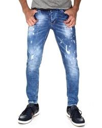 blaue Jeans mit Destroyed-Effekten von Bright Jeans