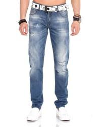 blaue Jeans mit Destroyed-Effekten von Cipo & Baxx