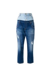 blaue Jeans mit Destroyed-Effekten von Dondup
