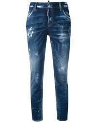 blaue Jeans mit Destroyed-Effekten von Dsquared2