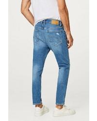 blaue Jeans mit Destroyed-Effekten von edc by Esprit