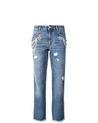 blaue Jeans mit Destroyed-Effekten von Ermanno Scervino