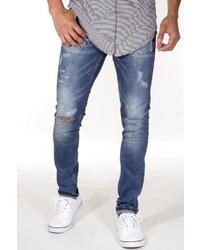 blaue Jeans mit Destroyed-Effekten von EX-PENT