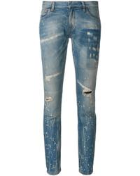 blaue Jeans mit Destroyed-Effekten von Faith Connexion