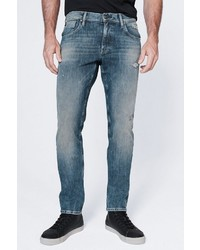 blaue Jeans mit Destroyed-Effekten von Harlem Soul