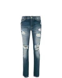 blaue Jeans mit Destroyed-Effekten von Htc Los Angeles