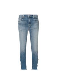 blaue Jeans mit Destroyed-Effekten von J Brand