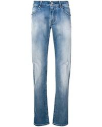 blaue Jeans mit Destroyed-Effekten von Karl Lagerfeld