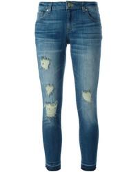 blaue Jeans mit Destroyed-Effekten von MICHAEL Michael Kors