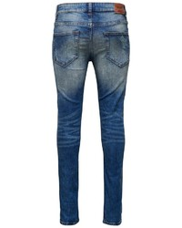 blaue Jeans mit Destroyed-Effekten von ONLY & SONS