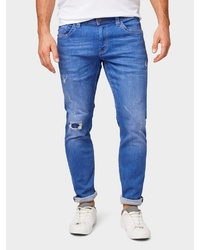 blaue Jeans mit Destroyed-Effekten von Tom Tailor