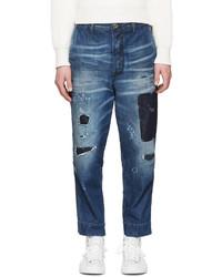 blaue Jeans mit Flicken von Diesel