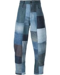 blaue Jeans mit Flicken von Giuliano Fujiwara