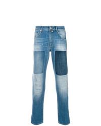 blaue Jeans mit Flicken von Jacob Cohen