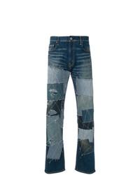 blaue Jeans mit Flicken von Junya Watanabe MAN
