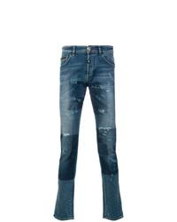 blaue Jeans mit Flicken von Philipp Plein