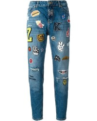 blaue Jeans mit Flicken von Zoe Karssen