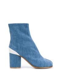 blaue Jeans Stiefeletten