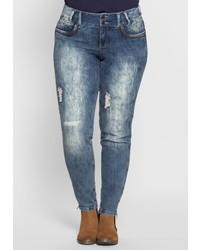blaue Jeans von SHEEGO DENIM