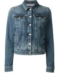 blaue Jeansjacke von Armani Jeans