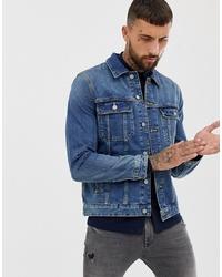 blaue Jeansjacke von ASOS DESIGN