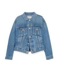 blaue Jeansjacke von Balenciaga
