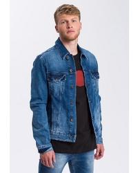 blaue Jeansjacke von Cross Jeans