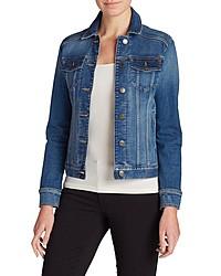 blaue Jeansjacke von Eddie Bauer