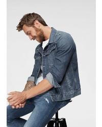 blaue Jeansjacke von G-Star RAW