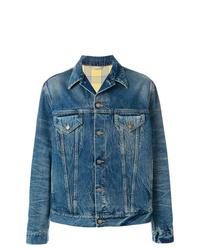 blaue Jeansjacke von Gucci