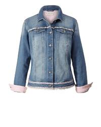 blaue Jeansjacke von Janet und Joyce by Happy Size