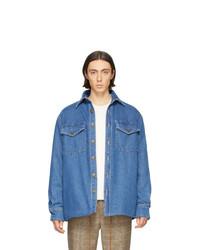 blaue Jeansjacke von Nanushka
