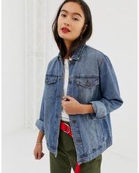 blaue Jeansjacke von Noisy May