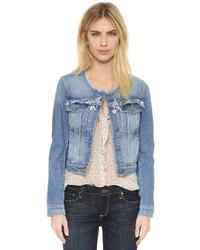 blaue Jeansjacke von Paige