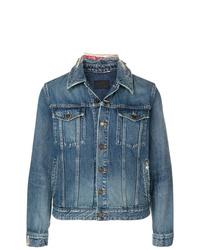 blaue Jeansjacke von Saint Laurent