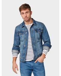 blaue Jeansjacke von Tom Tailor