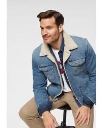 blaue Jeansjacke von Wrangler