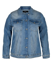 blaue Jeansjacke von Zizzi