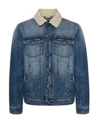 blaue Jeanslammfelljacke von BLEND