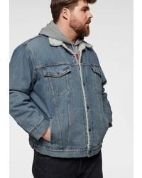 blaue Jeanslammfelljacke von Levi´s® Big and Tall