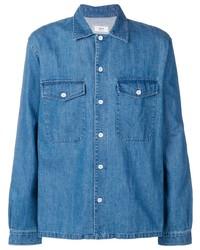 blaue Shirtjacke aus Jeans von Ami Paris